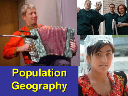 Population Geography - University of Wisconsin–Eau Claire