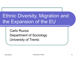 Ethnic Diversity, Migration Issues and the Expansion of …