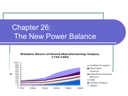 Chapter 26: The New Power Balance