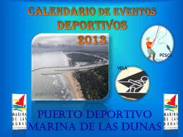 CALENDARIO DE EVENTOS DEPORTIVOS