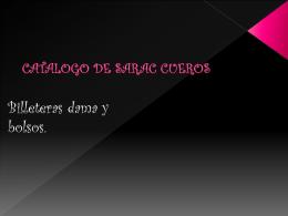 CATALOGO DE SARAC CUEROS