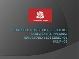 DESARROLLO HISTORICO Y TEORICO DEL DERECHO …