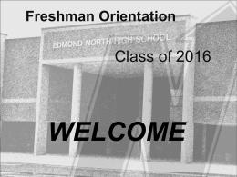 Freshman Orientation - Edmond Public Schools
