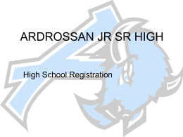 ARDROSSAN JR SR HIGH - Ardrossan Junior Senior High