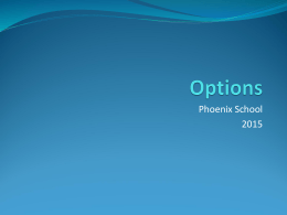 Options Evening - Phoenix Academy, Telford