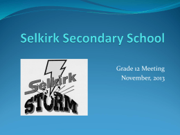 Selkirk Secondary School