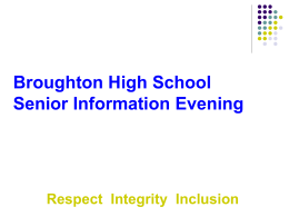 S4 Information Evening