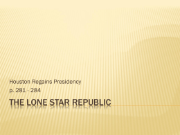 The Lone Star Republic - Eagle Mountain