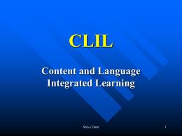CLIL - Steve Darn