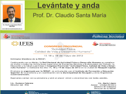 Diapositiva 1 - Instituto Superior de Ciencias de la Salud