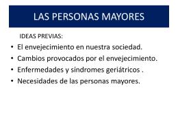 LAS PERSONAS MAYORES