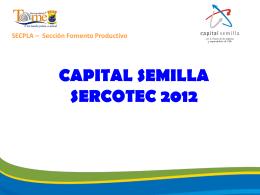 CAPITAL SEMILLA 2012