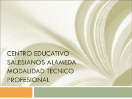 CENTRO EDUCATIVO SALESIANOS ALAMEDA …
