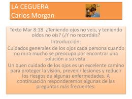 LA CEGUERA Carlos Morgan