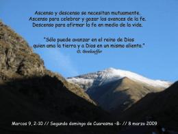 Cuaresma II domingo -B- 8-3-09
