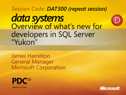 DAT400: Overview of what's new for developers in SQL