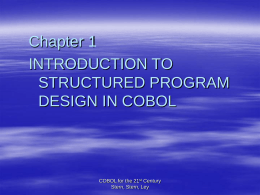 STRUCTURED COBOL PROGRAMMING 8th Edition