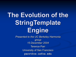 The Evolution of the StringTemplate Engine