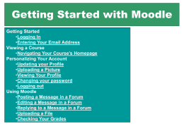 How to use Moodle! - Someprofs.org Homepage