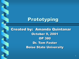 Prototyping - FreeQuality | Free Resources for Quality