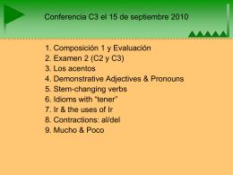Conferencia el 17 de sep. C3