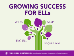 Can We Agree? - NC English Language Development …