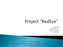 "Project ""RedEye"" - UCF Department of EECS"