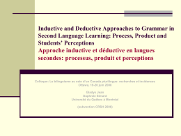Inductive and deductive approaches to grammar in second