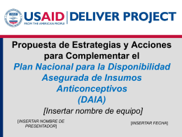 USAID | DELIVER PROJECT PowerPoint Presentation …