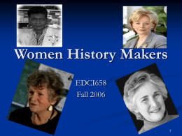 Women History Makers
