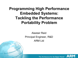 Programming High Performance Embedded Systems: …