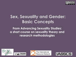 PowerPoint Presentation - Sex, sexuality and gender