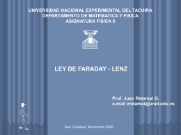 Ley de Faraday - Universidad Nacional Experimental del