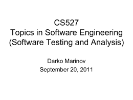 cs527-09 - Darko Marinov