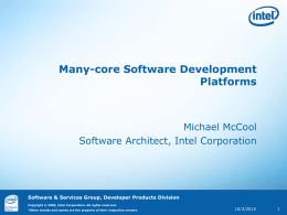 Many-core Software Development Platforms