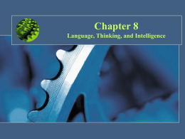 Language, Thinking, and Intelligence