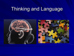 Thinking and Language - Winston