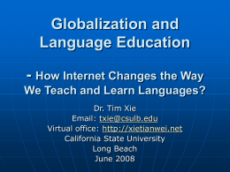 Globalization and Language Education: How Internet …