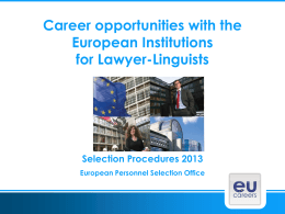 EU Careers: face a bigger challenge