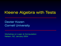On Hoare Logic and Kleene Algebra with Tests