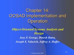 OOSAD Chapter 14