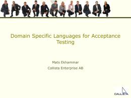 DSL for acceptance testing