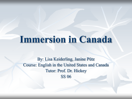 Immersion in Canada - uni