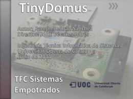 TFC Sistemas Empotrados - Repositori institucional: Home