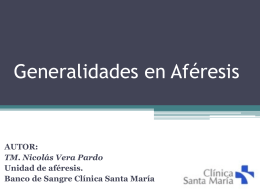 AFERESIS CARACTERISTICAS DE DIFERENTES MAQUINAS