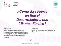 Soporte On-Line a Clientes finales gsBase (ERP
