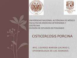 Cisticercosis porcina - Facultad de Medicina Veterinaria y