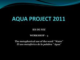 AQUA PROJECT 2011