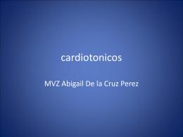 cardiotonicos - Anderson Filosofo Veterinaria Puno