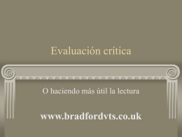 Critical Appraisal - Home